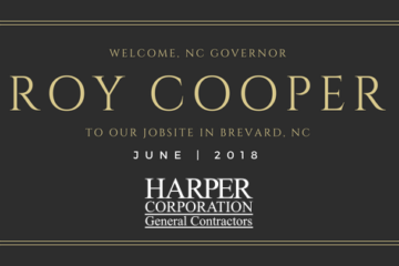 Roy Cooper to Visit Harper Jobsite in Brevard